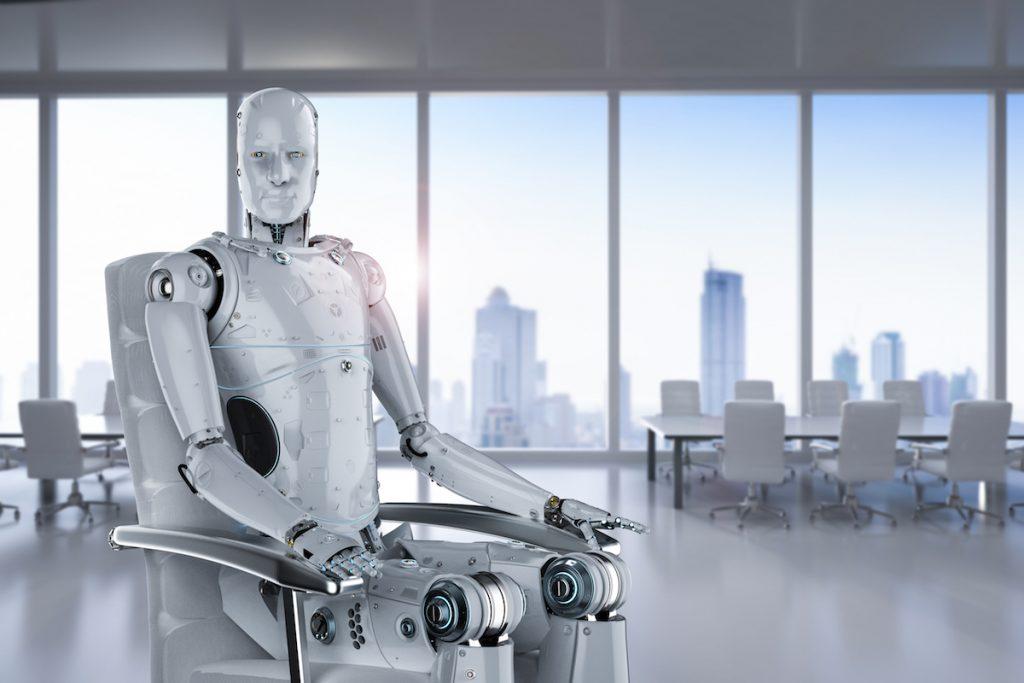 Banco atendido por robots
