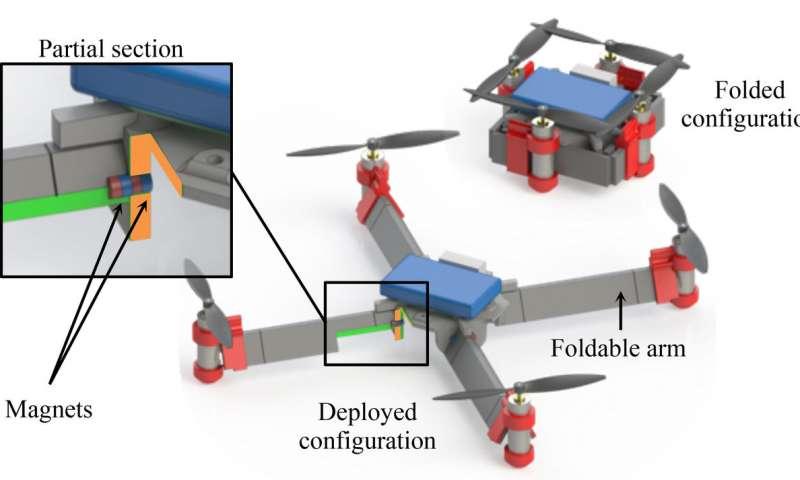 Dron basado en insecto y origami