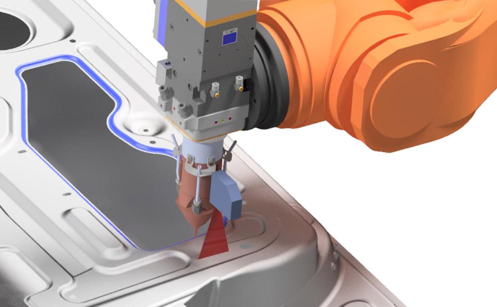 Sistema laser de guiado de robot