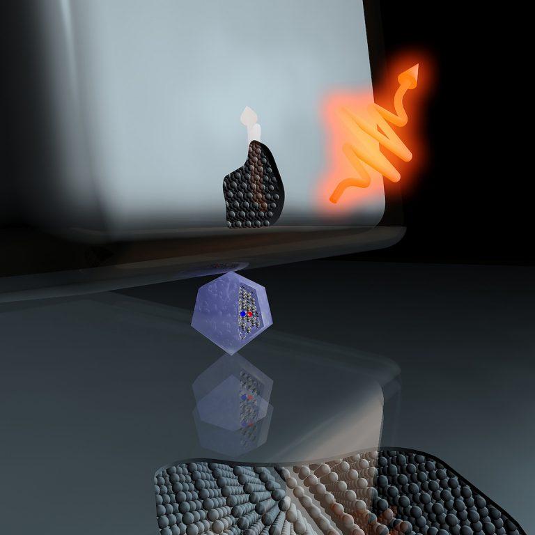 Nanodiamante para Internet cuántico