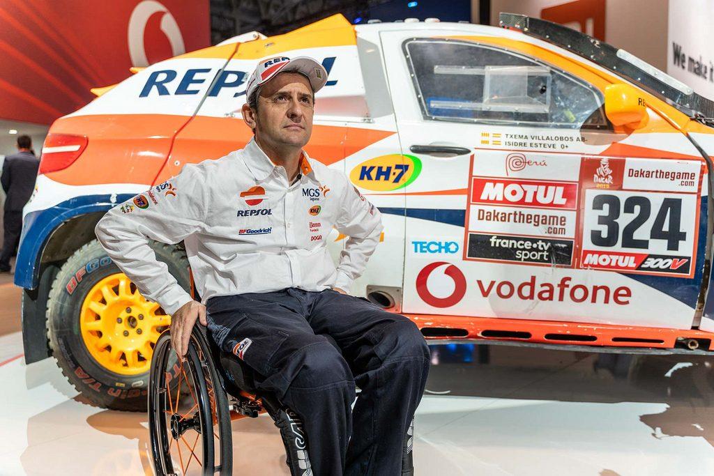 Isidre Esteve, piloto del Dakar conectado, en el MWC 2019