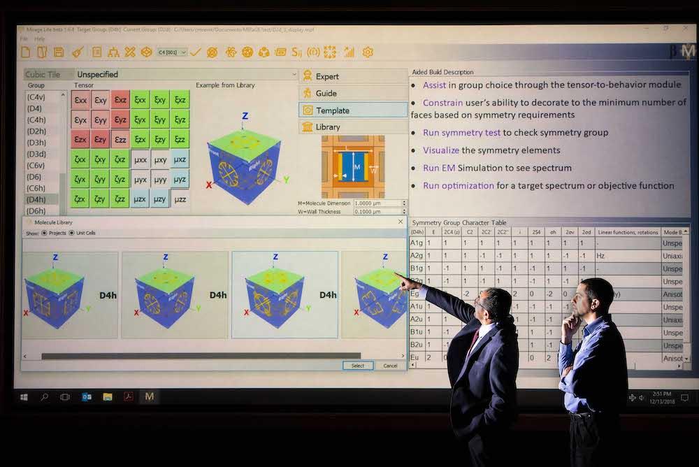 Software de diseño de materiales ópticos