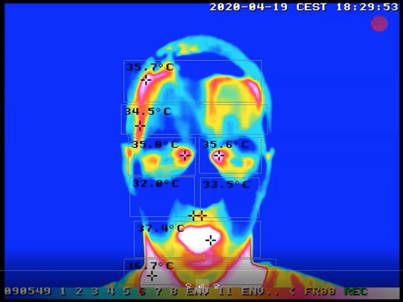 Ejemplo de imagen tomada de cámaras termométricas