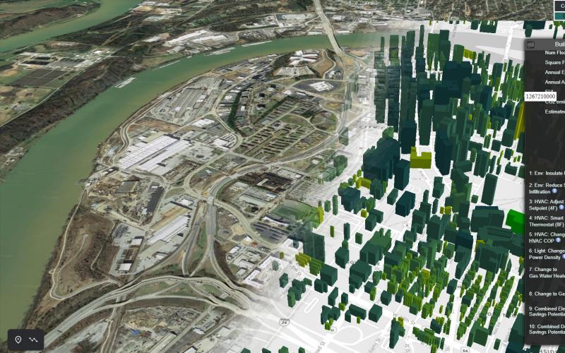 Mapa VirtualEPB de gemelos digitales de edificios ©ORNL