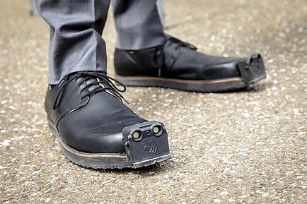 Zapato para invidentes de TU Graz